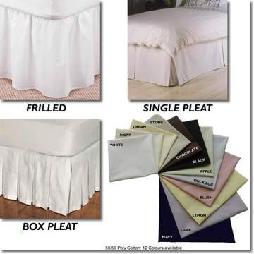 Valances in plain colours and choice of frill